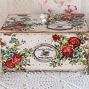 Для дома и интерьера handmade. Livemaster - original item Vintage box for tea and sweets