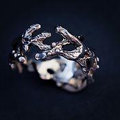 Кольца ручной работы. Ярмарка Мастеров - ручная работа Кольцо серебряное  «Крона» из веточек. Handmade.