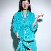 """Одежда ручной работы. Ярмарка Мастеров - ручная работа Шуба  """"Кимоно бирюза"""". Handmade."""