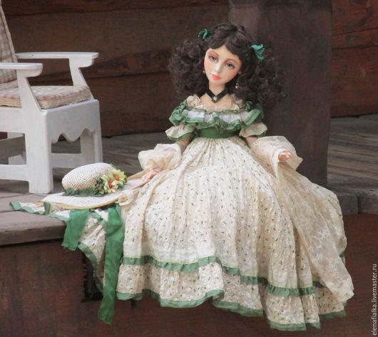 Коллекционные куклы ручной работы. Ярмарка Мастеров - ручная работа. Купить Скарлетт. Handmade. Мятный, шарнирная кукла
