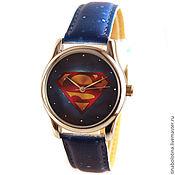Украшения ручной работы. Ярмарка Мастеров - ручная работа Дизайнерские наручные часы Супермэна. Handmade.
