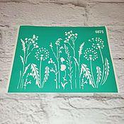 Материалы для творчества handmade. Livemaster - original item Stencil adhesive reusable 6871. Handmade.