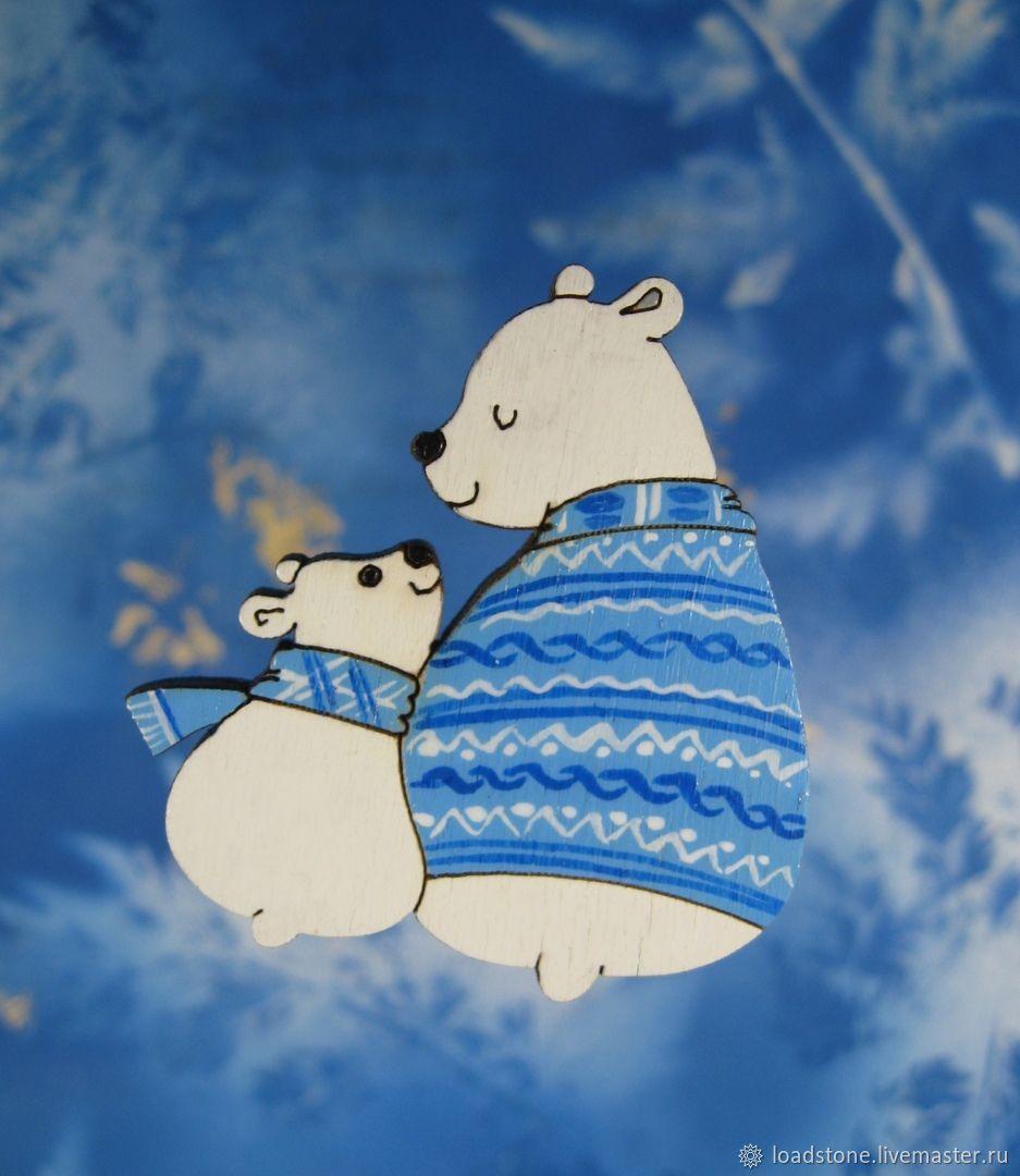 The icon polar bears, Badge, Lodeynoye Pole,  Фото №1