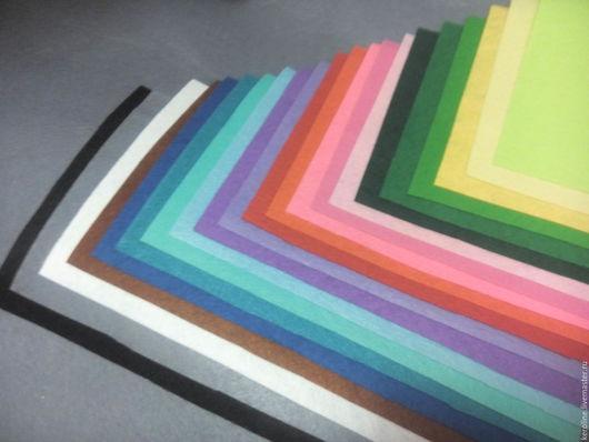 Валяние ручной работы. Ярмарка Мастеров - ручная работа. Купить фетр, фетр листовой 20х30см. Handmade. Разноцветный, фетр для шитья