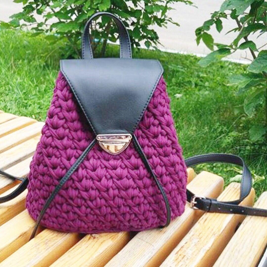 набор для вязания рюкзака с ручкой экокожа купить в интернет