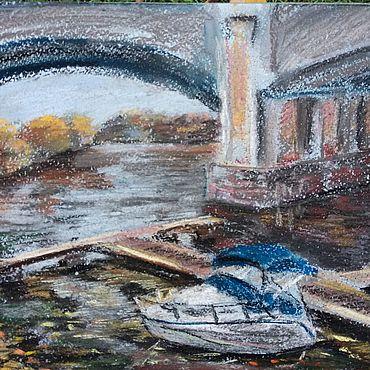 Картины и панно ручной работы. Ярмарка Мастеров - ручная работа Картина пастелью яхт-клуб. Handmade.