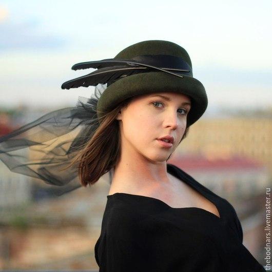 Шляпы ручной работы. Ярмарка Мастеров - ручная работа. Купить Цилиндр Адель. Handmade. Шляпа женская, фата, подарок девушке