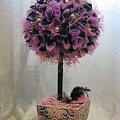 """Цветы и флористика ручной работы. Ярмарка Мастеров - ручная работа Интерьерное дерево """"Lady of the Moulin Rouge"""". Handmade."""