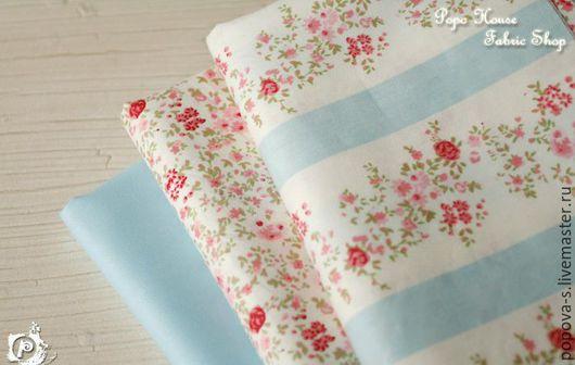 Шитье ручной работы. Ярмарка Мастеров - ручная работа. Купить Набор ткани. Handmade. Голубой, ткани, ткань для скрапбукинга