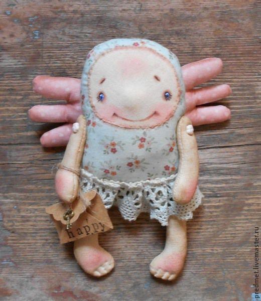 Коллекционные куклы ручной работы. Ярмарка Мастеров - ручная работа. Купить Письма счастья. Handmade. Ангел, голубой, текстильный ангел