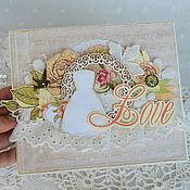 Открытки ручной работы. Ярмарка Мастеров - ручная работа Свадебная открытка. Handmade.
