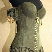 Одежда handmade. Livemaster - original item Linen corset with cups. Handmade.