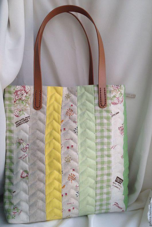 Женские сумки ручной работы. Ярмарка Мастеров - ручная работа. Купить Весна сумка. Handmade. Сумка стеганая, весна, хлопок