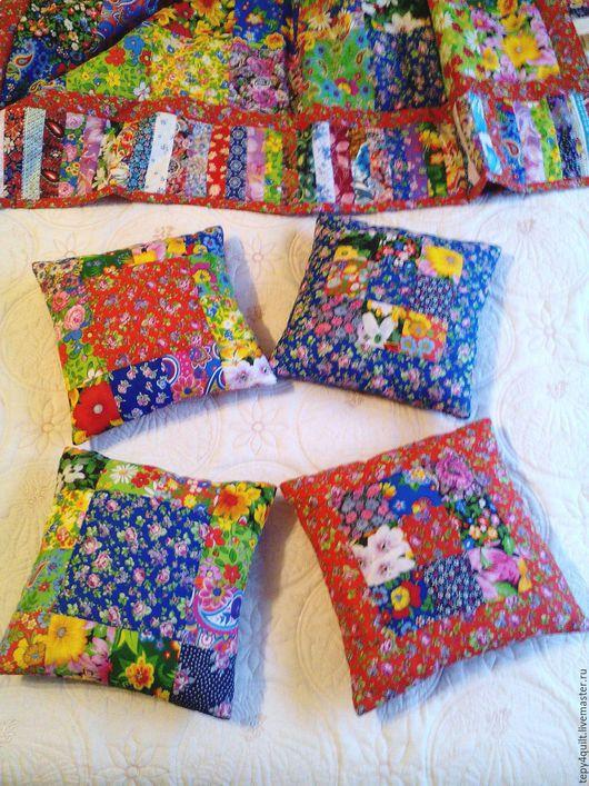 """Текстиль, ковры ручной работы. Ярмарка Мастеров - ручная работа. Купить Подушечки """"Деревенька"""". Handmade. Подушка, подушка в подарок"""