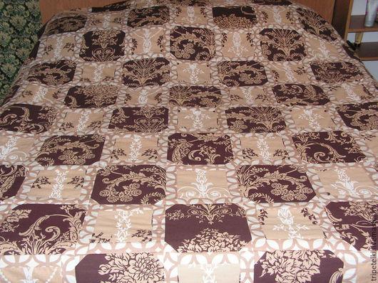"""Текстиль, ковры ручной работы. Ярмарка Мастеров - ручная работа. Купить Лоскутное одеяло """"Молочный шоколад"""". Handmade. Разноцветный"""