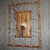 Картины и панно ручной работы. Ярмарка Мастеров - ручная работа Панно из бамбука. Handmade.