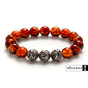 Украшения handmade. Livemaster - original item Men`s bracelet, women`s bracelet from Baltic amber. Handmade.