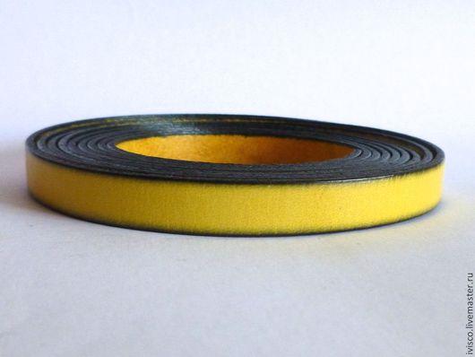 Для украшений ручной работы. Ярмарка Мастеров - ручная работа. Купить Кожаный шнур 10х2мм желтый  матовый. Handmade.