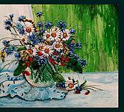 Картины и панно ручной работы. Ярмарка Мастеров - ручная работа Утро с цветами. Handmade.