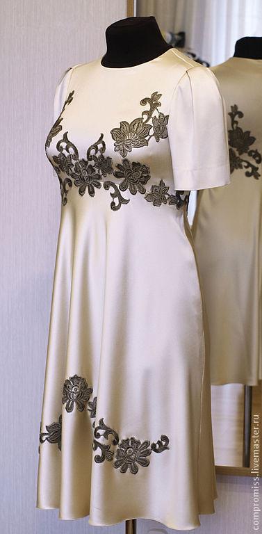 Платья ручной работы. Ярмарка Мастеров - ручная работа. Купить платье на выпускной. Handmade. Золотой, цвет шампань, на заказ