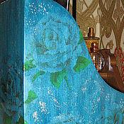 """Канцелярские товары ручной работы. Ярмарка Мастеров - ручная работа Газетница """"Голубые розы"""". Handmade."""