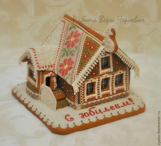 Кулинарные сувениры ручной работы. Ярмарка Мастеров - ручная работа. Купить Большой пряничный домик - эксклюзивный подарок. Handmade. Бордовый