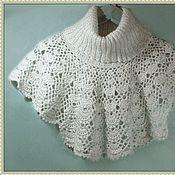 Аксессуары handmade. Livemaster - original item Dickies: Bib crochet