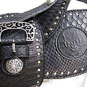 Аксессуары handmade. Livemaster - original item Belt made from Python wide. Handmade.