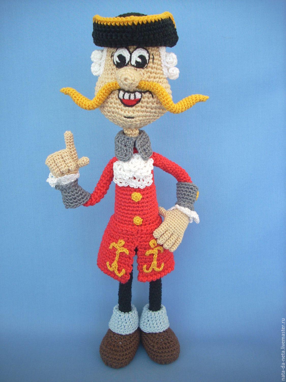 Барон Мюнхаузен(Мюнхгаузен) вязаный.Кукла авторская вязаная, Мягкие игрушки, Пенза,  Фото №1