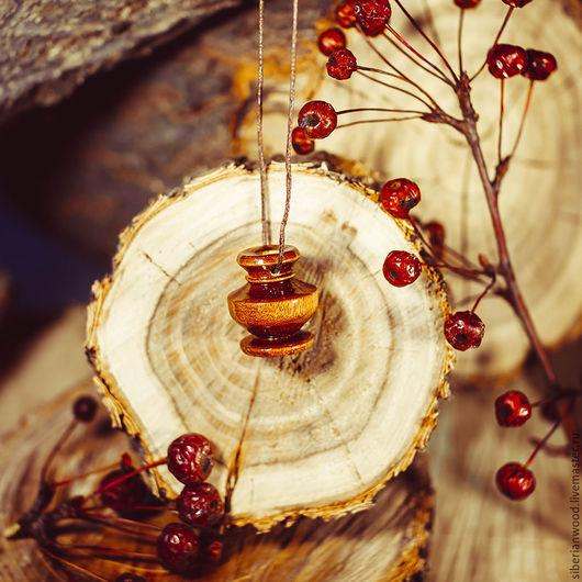 Кулоны, подвески ручной работы. Ярмарка Мастеров - ручная работа. Купить Аромакулон из натурального дерева Сибирская Береза  Ароматерапия  C82. Handmade.