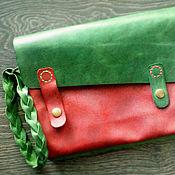 Сумки и аксессуары ручной работы. Ярмарка Мастеров - ручная работа Женская кожаная сумка Red Grass. Handmade.