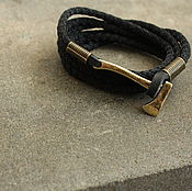 Украшения handmade. Livemaster - original item Black bracelet with an axe. Handmade.