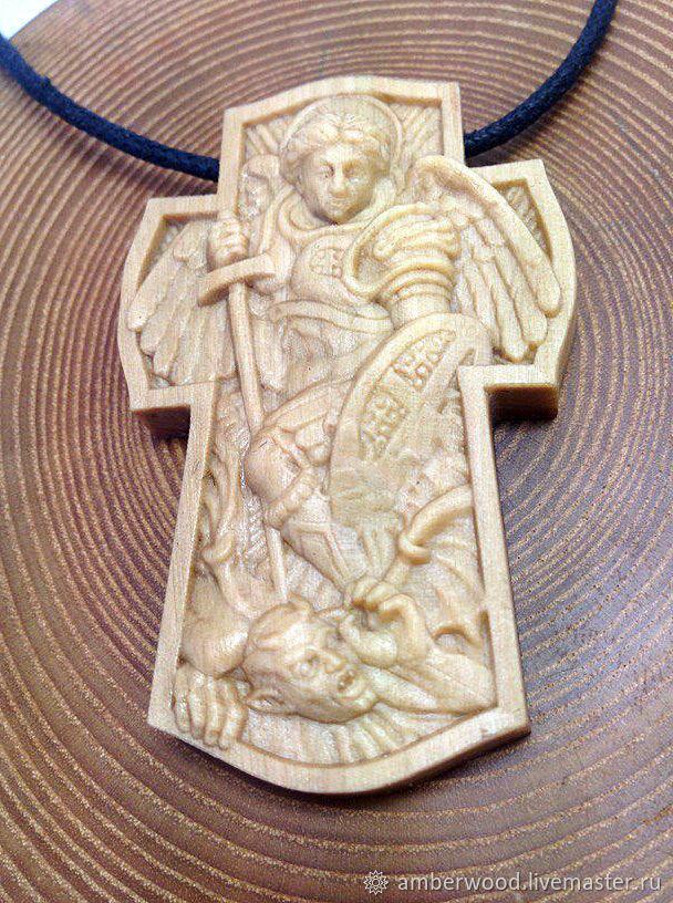 Крест Архангел Михаил из Граба, Украшения, Калининград, Фото №1