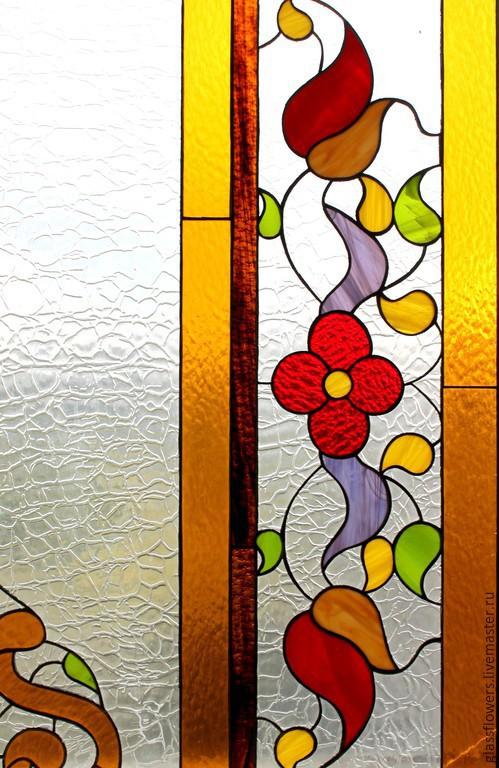 Элементы интерьера ручной работы. Ярмарка Мастеров - ручная работа. Купить Лето lll. Интерьерный витраж Тиффани. Handmade. Glassflowers