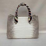 Сумки и аксессуары handmade. Livemaster - original item Shopping bag made of genuine crocodile leather, in natural color!. Handmade.
