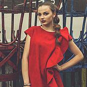 "Одежда handmade. Livemaster - original item Валяное платье ""In Red"". Handmade."