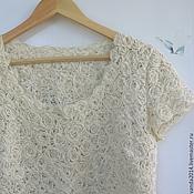 Одежда handmade. Livemaster - original item Blouse summer openwork Ecru, bamboo, flax. Handmade.