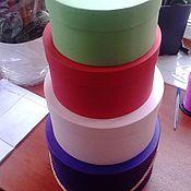 Дизайн и реклама ручной работы. Ярмарка Мастеров - ручная работа Коробочка круглая, низкая с крышкой  D250 H135. Handmade.