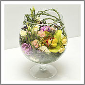 Цветы ручной работы. Ярмарка Мастеров - ручная работа Композиции в стекле из живых цветов. Handmade.