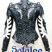 Одежда handmade. Livemaster - original item Women`s leather jacket, fitted jacket. Handmade.