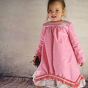 Работы для детей, ручной работы. Ярмарка Мастеров - ручная работа Розовое платье. Handmade.