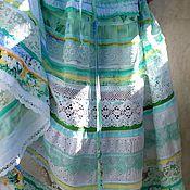 Одежда ручной работы. Ярмарка Мастеров - ручная работа Бохо платье нежно-салатовое. Handmade.