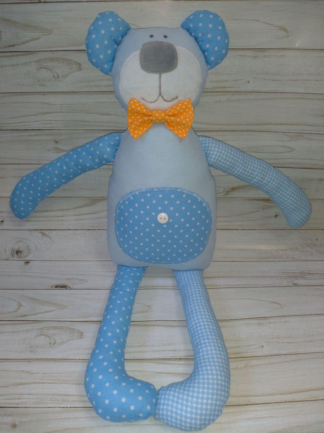 """Мягкая игрушка Медвежонок """"Горошек в голубом"""", Мягкие игрушки, Саянск,  Фото №1"""