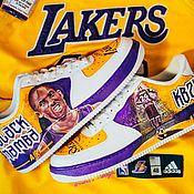 Обувь ручной работы handmade. Livemaster - original item Kobe Bryant print sneakers. Custom Nike air Force 1 sneakers. Handmade.
