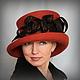 """Шляпы ручной работы. Ярмарка Мастеров - ручная работа. Купить Дамская шляпка """"Уикэнд на берегу Уиндермир"""". Handmade. Рыжий, Валяние"""