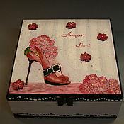 """Подарки к праздникам ручной работы. Ярмарка Мастеров - ручная работа """"Любовь в Париже"""" Шкатулка для украшений. Handmade."""