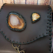 Сумки и аксессуары handmade. Livemaster - original item Women`s leather bag with agate. Handmade.