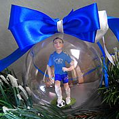 """Подарки к праздникам ручной работы. Ярмарка Мастеров - ручная работа шар """"Футболист"""". Handmade."""