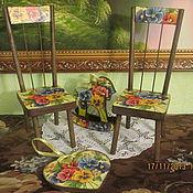 Куклы и игрушки ручной работы. Ярмарка Мастеров - ручная работа Кукольная мебель  в комплекте с лошадкой - качалкой. Handmade.
