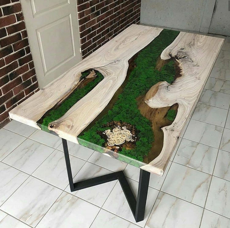 Стол река. Стол лофт. Epoxy and wood table.  Table loft, Дизайн, Екатеринбург,  Фото №1